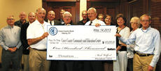 "<div class=""source"">Larry Rowell</div><div class=""image-desc"">The Board of Directors of Casey County Bank presented a check for $100,000 to Mayor Steve Sweeney and Casey County Judge-Executive Ronald Wright for the Casey County Education and Community Center which is going to be constructed in downtown Liberty. Pictured from left are Johnny Dando, Billy Weddle, Brad Wesley, Sweeney, Craig McAnelly, Larry Griffin,David McAnelly, Blaine Staat, Mark Wolford, Barry Rousey, Betty Jo Bastin, Linda Hatter, Mary Lou Carman, and Wright.</div><div class=""buy-pic""><a href=""http://web2.lcni5.com/cgi-bin/c2newbuyphoto.cgi?pub=009&orig=CC-BAnk.jpg"" target=""_new"">Buy this photo</a></div>"