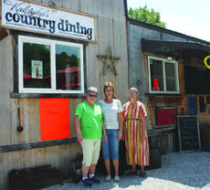 """<div class=""""source"""">ABIGAIL WHITEHOUSE</div><div class=""""image-desc"""">Roswitha Callinan, Rosey Vaught and Sherilyn Smith stand outside Kaleigha's Country Dining, located in the South Fork area of Casey County. Kaleigha's offers ice cream, sandwiches, salads, burgers and more in a quiet country setting.</div><div class=""""buy-pic""""></div>"""
