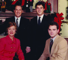 """<div class=""""source"""">HERALD-LEADER</div><div class=""""image-desc"""">The Wilkinson family during the Christmas season in 1989. Gov. Wallace Wilkinson, first lady Martha Wilkinson and their sons, Glenn, standing, and Andrew. Courtesy of Andrew Wilkinson</div><div class=""""buy-pic""""></div>"""