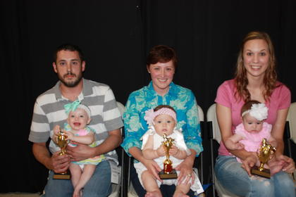 Madison Lynn Malone, daughter of Michelle Passmore and Matthew Malone of Dunnville, was the winner of the 0-6 months girls division. Evie Switzer, daughter of Josh and Lindsay Switzer of Liberty, was first runner-up. Second runner-up was Paisley Sanders, daughter of Jason and Ellen Sanders of Lawrenceburg.