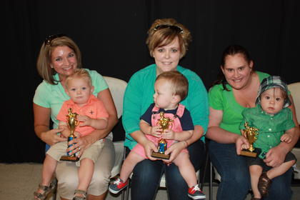 Kade Alexander Roosa, son of Jeremy and Ronika Roosa of Nancy, was the winner of the 13-18 month boys division. Mason Smallwood, son of Jamie and Sasha Smallwood of Liberty, was first runner- up. Second runner-up was Luke Wesley Garrett, son of Brandon and Sarah Garrett of Liberty.