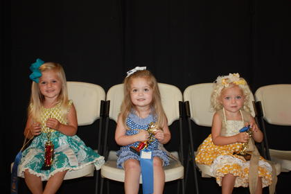 Ember Genco, daughter of Justin Genco and Deanna Cooke of Stanford, was the winner of the 2-year-old girls division. First runner-up was Pyper Sanders, daughter of Jason and Ellen Sanders of Lawrenceburg. Second runner-up was Kinsley Marie Steele, daughter ofChad and Barbara Steele of Harrodsburg.