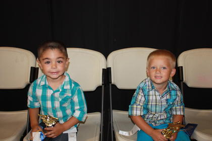Trenton Edwards, son of Jacob and Lindsey Edwards of Liberty, was the winner of the 3-year-old boys category. First runner-up was Bentley Edelbrock Harris, son of Chris and Crystal Harris of Bethelridge