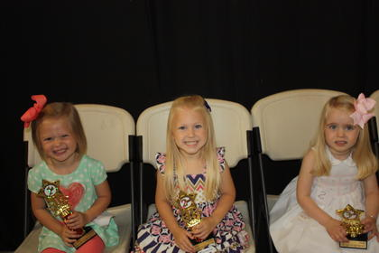 Lylah June Dial, daughter of Corey Dial of Liberty, was the winner of the 3-year-old girls division. First runner-up was Shayla Lee, daughter of Joe and Brandi Lee of Liberty. Second runner-up was Kate Cooper, daughter of Keith and Robin Cooper of Danville.