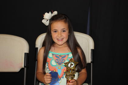 Haylee Elizabeth Woods, daughter of Brendon and Mandy Woods of Liberty, was the winner of the 7-year-old girls division.