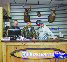 """<div class=""""source"""">ABIGAIL WHITEHOUSE</div><div class=""""image-desc"""">Eric Pruner, Mark Beard and Tracy Hebrock are ready to help outdoorsmen and women at Green River Outdoors, located on North Wallace Wilkinson Boulevard.</div><div class=""""buy-pic""""></div>"""