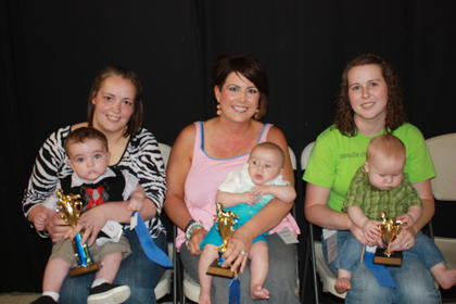 Cayden Sturgill, son of Brandon and Terri Sturgill of Liberty, was the winner of the 0-6 month boys category. First runner-up was Finnley James Cooper, son of Bryan and Lacy Cooper of Russell Springs. Second runner-up was Maxwell Ray Tarter, son of Kelley and Sara Tarter of Dunnville.