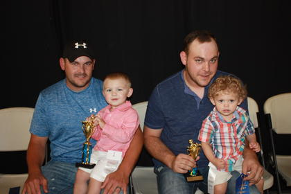 Maddox Toebbe, son of Harvey and Demi Toebbe of Liberty, was the winner of the 19-23 months boys division. First runner-up was Landon Cochran, son of Brandon and Laura Cochran of Liberty.