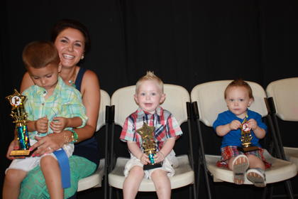 Tipton Lane Sims, son of David and Kristy Sims of Kings Mountain, was the winner of the 2-year-old boys category. Bryor Smith, son of Jason and Luci Smith of Stanford, was first runner-up. Second runner-up was Scott Dean Russell of Hustonville.